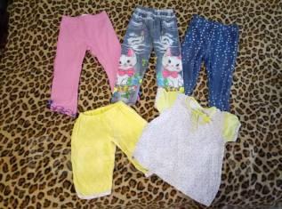 Лот одежды на девочку. Рост: 68-74, 74-80, 80-86 см