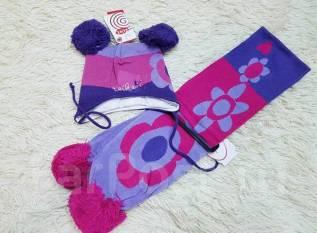 Шапка и шарф. Рост: 74-80, 80-86, 86-98 см
