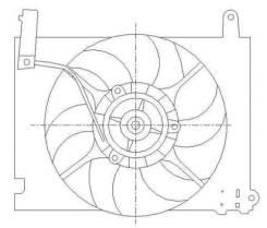 Диффузор. Chevrolet Aveo, T200 Двигатели: L95, B12D1, LMU, F14D4, F12S3, B12S1, F15S3