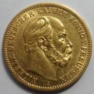 20 марок 1873 года. Золото. Вильгельм I. Под заказ!