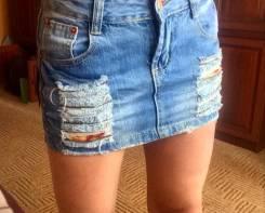 Юбки джинсовые. 42, 40-44