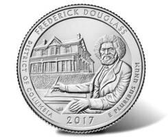 Квотер = 25 центов - 2017, Округ Колумбия (37 парк-Фредерика Дугласа)