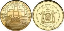 Монета 100 долларов 1975 г золото