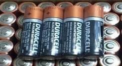 Батарейка Durasell AA за упаковку 4 шт-100 руб