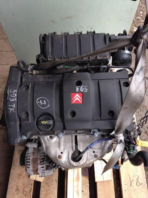 Двигатель в сборе. Citroen C2 Citroen C3 Citroen C4 Citroen Berlingo Peugeot 307, 3H Peugeot 206, 2B Двигатель TU5JP4