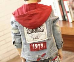 Куртки джинсовые. Рост: 128-134, 134-140 см