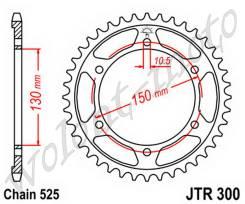 Звезда ведомая JT sprockets JTR300.49