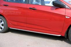 Накладка на порог. Hyundai Solaris