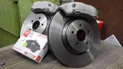 Суппорта brembo 4 pot+тормозные диски 315мм+тормозные колодки Ferodo. Subaru Legacy, BL, BL5
