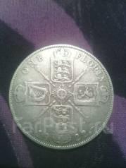 Англия флорин 1922г. Серебро.