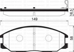 Тормозные колодки, Передние (4813008260) на SsangYong Stavic (2005- ) / SP1171 / SANGSIN