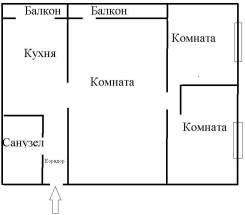 3-комнатная, Строительная 61. Горелое, частное лицо, 95 кв.м.