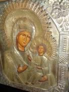 Икона Богородица Иверская 19в.31х26. Оригинал