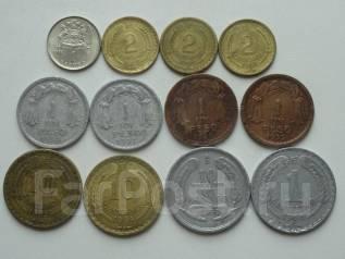 Чили подборка из 12 монет. Без повторов! Торги с 1 рубля!