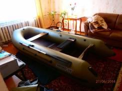 Лодка Навигатор 320 +навесной мотор HDX-5 2 такта, б/у. Год: 2014 год, длина 3,20м., двигатель подвесной, 5,00л.с., бензин