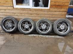 Продам шикарные колеса хром на 22 на жирной летней резине. x22 6x139.70