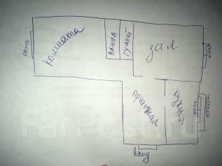 2-комнатная, улица 4 микрорайон 14. Пожарский район, частное лицо, 52 кв.м. План квартиры