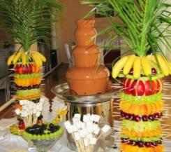 Горка из бокалов! Шоколадный фонтан! Фруктовая пальма! От МореВкусаДв