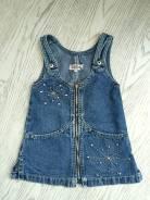 Сарафаны джинсовые. Рост: 86-98, 98-104 см