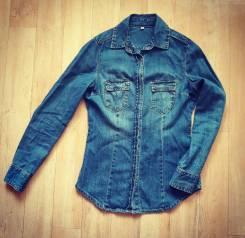 Рубашки джинсовые. 38, 40, 42
