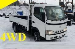 Toyota Dyna. 4WD, борт 3 тонны, 4 600куб. см., 3 000кг., 4x4
