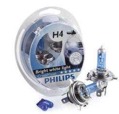 Лампа H4+W5W Crystal Vision 4300K 12V 12342CV SM (2шт) 48981428 PHILIPS