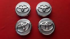 "Колпачки Toyota Заглушки на ступицу диска 55мм-57мм Комплект 4штуки. Диаметр 57"", 1 шт."