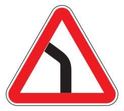 Дорожные знаки 1.11.1 Опасный поворот
