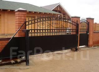 Строительство монтаж установка любых заборов и ворот откатных