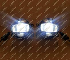 Фара противотуманная. Nissan Tiida Latio, SJC11, SC11, SNC11 Двигатели: MR18DE, HR15DE