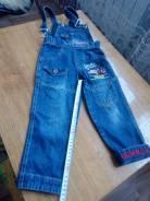 Комбинезоны джинсовые. Рост: 86-98, 98-104 см