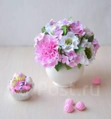 Неувядающий букет цветов ручной работы