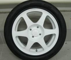 Продаю комплект колес (кованые Всмпо) на летней резине Amtel R14 ТОРГ!. 5.5x14 4x100.00 ET49 ЦО 56,6мм.