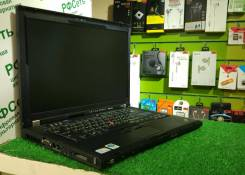 "Lenovo ThinkPad T400. 14"", 2,4 ГГц, ОЗУ 4096 Мб, диск 640 Гб, WiFi, Bluetooth, аккумулятор на 2 ч."