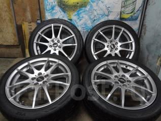 Продам Стильные Редкие A-Tech Schneider+Лето Жир215/45R17Toyota, Subaru. 7.0x17 5x100.00 ET48