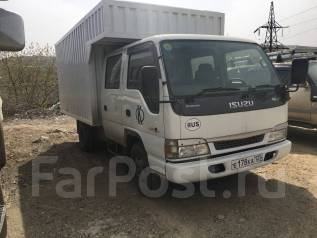 Isuzu Elf. 2-х кабинный фургон Isuzu ELF, 4 800 куб. см., 3 000 кг.