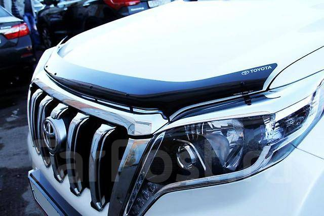 Дефлектор капота. Toyota Land Cruiser Prado, GDJ150, GDJ150L, GDJ150W, GDJ151W, GRJ150, GRJ150L, GRJ150W, GRJ151W, KDJ150, KDJ150L, LJ150, TRJ150, TRJ...