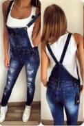 Комбинезоны джинсовые. 38, 40, 42, 44, 46. Под заказ
