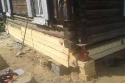Замена венцов дачных домиков ремонт срубов деревянных домов