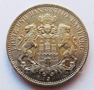 Германия - Гамбург 3 марки 1912 J Серебро