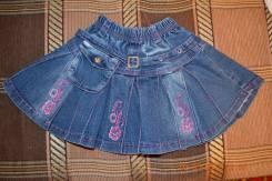 Юбки джинсовые. Рост: 104-110, 110-116 см