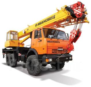 Автокран вездеход 16 т и 25 тонн 3-х мостовый вездеход 6x6 Камаз