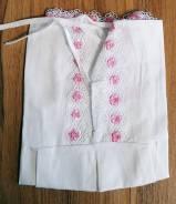 Рубашки крестильные. Рост: 50-60, 60-68 см