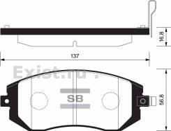 Колодка тормозная. Subaru Legacy, BL5, BM9, BR9, BP5 Subaru Forester, SG5, SH5 Subaru Impreza, GGC, GD9, GE7, GG9, GE6, GH7, GH6, GG3, GH3, GG2, GH2...