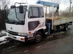 Nissan Diesel Condor. Продам бортовой грузовик с манипулятором, 7 000куб. см., 4x2