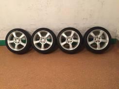 Продам комплект колес Subaru на 17 с летней резиной. 7.0x17 5x100.00 ET50 ЦО 73,0мм.