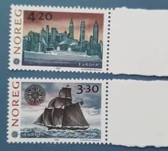 1992 Норвегия. Европа(C. E. P. T. ) 500 лет открытия Америки. 2м Чистые