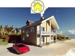046 Za AlexArchitekt Двухэтажный дом в Алуште. 100-200 кв. м., 2 этажа, 7 комнат, бетон