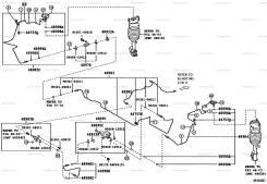 Трубка пневмоподвески. Toyota Harrier, GSU36, GSU31, MCU36, MCU31 Двигатели: 2GRFE, 1MZFE