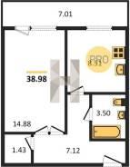 Большую 1-комнатную в Снеговой пади на гостинку от 17 кв. м.!. От агентства недвижимости (посредник)